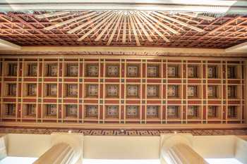 Alex Theatre, Glendale: Coffered ceiling from directly below