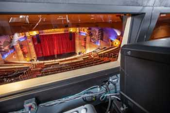 Alex Theatre, Glendale: Projection Booth Followspot View