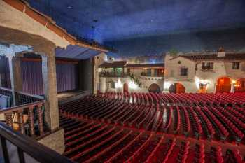Arlington Theatre, Santa Barbara: Auditorium from House Left