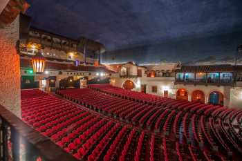 Arlington Theatre, Santa Barbara: Auditorium from House Right