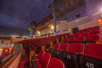 Arlington Theatre, Santa Barbara: Balcony seating