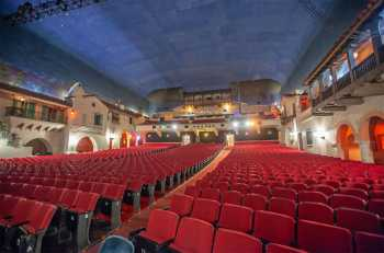 Arlington Theatre, Santa Barbara: Orchestra seating from Stage