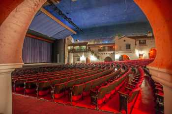 Arlington Theatre, Santa Barbara: Orchestra seating through arch from House Left