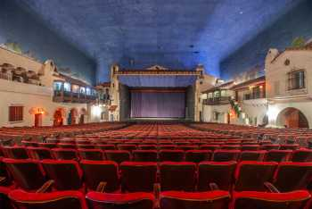Arlington Theatre, Santa Barbara: Stage from rear of Orchestra seating
