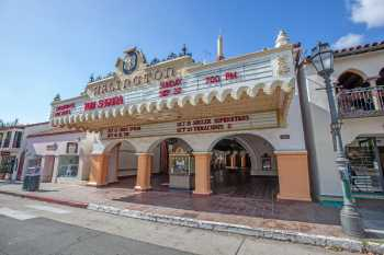 Arlington Theatre, Santa Barbara: Facade from right