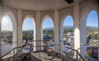 Arlington Theatre, Santa Barbara: Tower top interior panorama