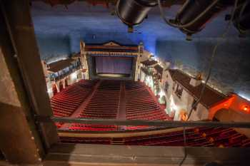 Arlington Theatre, Santa Barbara: Lights in Followspot Box