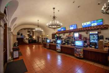 Arlington Theatre, Santa Barbara: Lobby and Bar from House Right