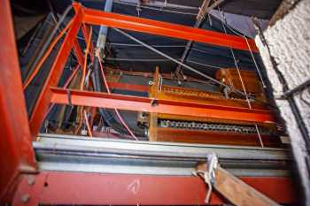 Arlington Theatre, Santa Barbara: Organ components above Stage Left Proscenium