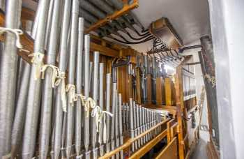 Arlington Theatre, Santa Barbara: Pipes in House Left Organ Chambers