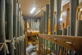 Arlington Theatre, Santa Barbara: Pipes in House Right Organ Chamber
