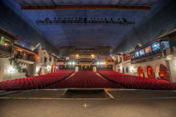 Arlington Theatre, Santa Barbara: Auditorium from Stage Center