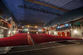 Arlington Theatre, Santa Barbara: Auditorium from Stage Left