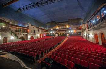 Arlington Theatre, Santa Barbara: Auditorium from Stage Right