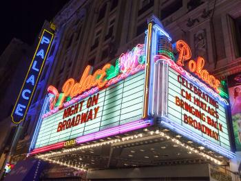 Broadway Historic Theatre District, Los Angeles: Marquee at the Palace Theatre