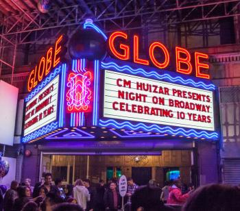 Broadway Historic Theatre District, Los Angeles: Marquee at the Globe Theatre