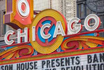 Chicago Theatre: Closeup of Chicago Lettering