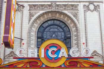 Chicago Theatre: Marquee and facade closeup