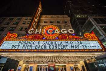 Chicago Theatre: Marquee at night