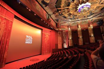 TCL Chinese Theatre, Hollywood: Auditorium from cross-aisle House Left