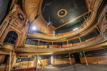 The auditorium, seated on three levels of Stalls & Pit, Dress Circle, and Upper Circle (Amphitheatre & Gallery)
