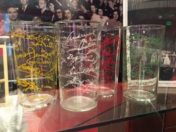Earl Carroll Theatre, Hollywood: Earl Carroll Theatre Celebrity Autograph Glasses Set 1