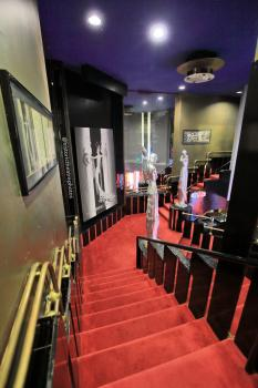 Earl Carroll Theatre, Hollywood: Stairs from Ladies Lounge