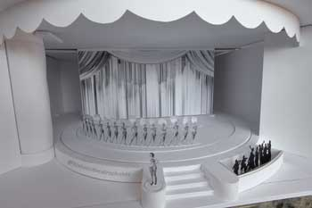 Earl Carroll Theatre, Hollywood: Theatre model from House Left