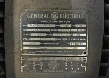 Earl Carroll Theatre, Hollywood: Inner revolve motor specification plate