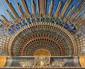 Egyptian Theatre, Hollywood: Ceiling Sunburst (Organ Grille) Closeup