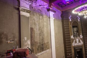 Fox Theatre, Fullerton: House Left wall showing faint remains of murals