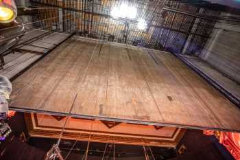 Globe Theatre, Los Angeles: Rear of Fire Curtain from Stage