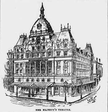 Her Majesty's Theatre, as completed in 1897