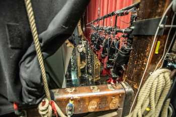 Her Majesty's Theatre: Looking onstage from Cleat Rail Downstage
