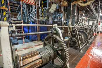 Her Majesty's Theatre: Stage Bridge Winches Closeup