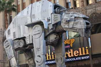 Hollywood Boulevard Entertainment District: El Capitan Theatre: AT-AT Walker at Star Wars premiere