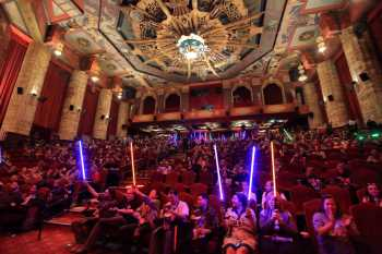 Hollywood Boulevard Entertainment District: TCL Chinese Theatre: moment of silence for Carrie Fisher at the premiere of <i>Star Wars: The Last Jedi</i>, December 2017