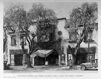 Hollywood Playhouse on opening night in 1927