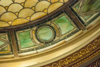 Hudson Theatre, New York: Dome extreme closeup