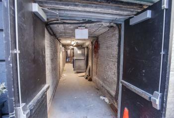 Hudson Theatre, New York: Backstage corridor from 45th St