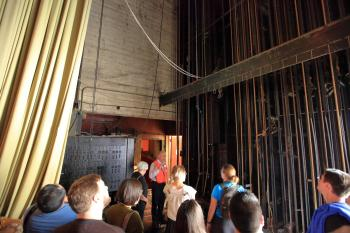 Los Angeles Theatre: Stage Right Pin Rail