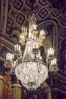Los Angeles Theatre: Grand Lobby Chandelier Closeup