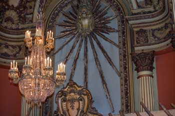 Los Angeles Theatre: Sunburst above Lobby Entrance