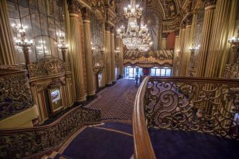 Los Angeles Theatre: Lobby from Mezzanine stairs side