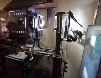 Los Angeles Theatre: Brenkert F7 Master Brenograph from side