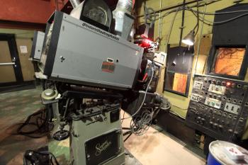 Los Angeles Theatre: Simplex XL projector with Strong 6 kilowatt xenon lamphouse