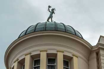 "Lyceum Theatre, Sheffield: Statue of ""Fame"" atop Dome"