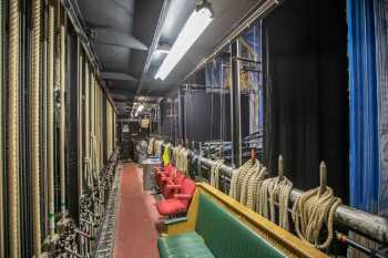Lyceum Theatre, Sheffield: Stage Right Fly Floor from Downstage