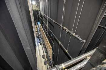 Lyceum Theatre, Sheffield: Stage from Stage Right Pin Rail