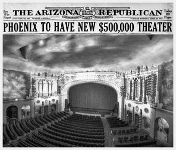 Announcement of the new theatre